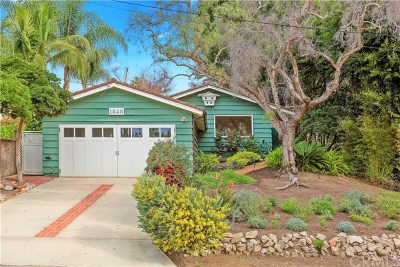 Laguna Beach Single Family Home For Sale: 1848 Catalina