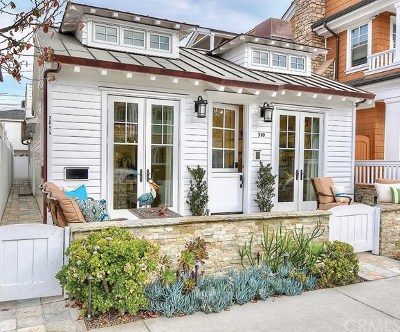 Balboa Island - Main Island (Balm) Single Family Home For Sale: 310 Collins Avenue