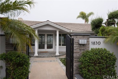 Newport Beach Single Family Home For Sale: 1830 Galaxy Drive