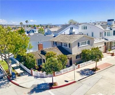 Newport Beach Single Family Home For Sale: 2001 E Balboa Boulevard