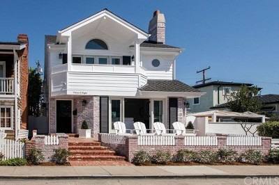 Balboa Island - Main Island (Balm) Single Family Home For Sale: 308 Sapphire Avenue