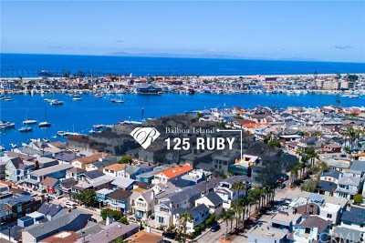 Balboa Island - Main Island (Balm) Single Family Home For Sale: 125 Ruby Avenue