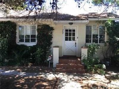 Costa Mesa Single Family Home Active Under Contract: 262 E 21st