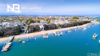 Balboa Island - Main Island (Balm) Single Family Home For Sale: 407 N Bayfront