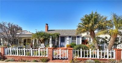 Corona Del Mar Single Family Home For Sale: 611 Poinsettia Avenue