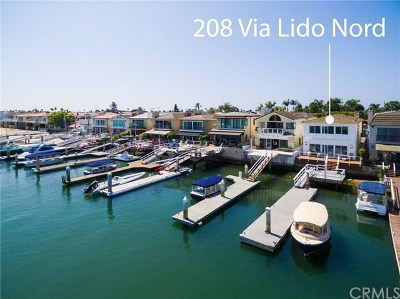 Newport Beach, Corona Del Mar, Newport Coast Single Family Home For Sale: 208 Via Lido Nord