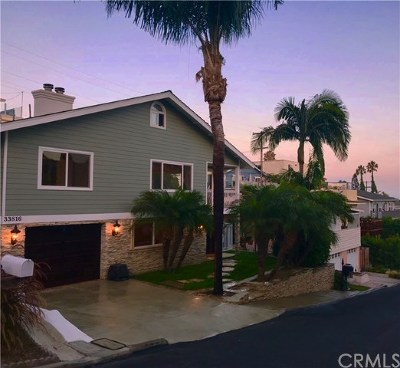 Dana Point Single Family Home For Sale: 33816 Orilla Road