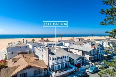 Newport Beach Single Family Home For Sale: 123 E Balboa Boulevard
