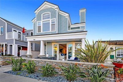 Balboa Island - Main Island (Balm) Single Family Home For Sale: 313 Onyx Avenue