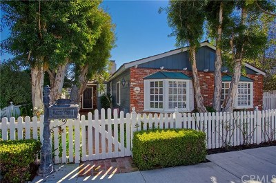Corona del Mar Single Family Home For Sale: 328 Poppy Avenue
