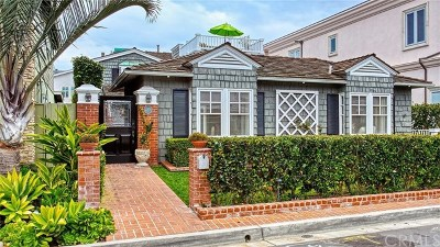 Newport Beach CA Single Family Home For Sale: $3,995,000