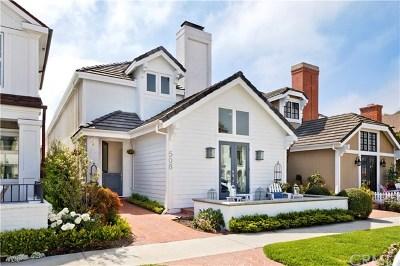 Corona del Mar Rental For Rent: 508 Carnation Avenue
