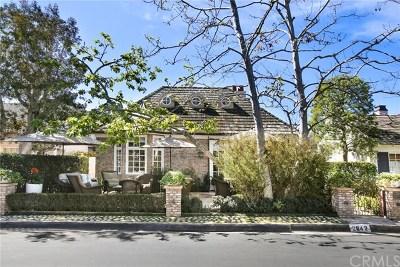 Newport Beach Single Family Home For Sale: 2642 Vista Drive