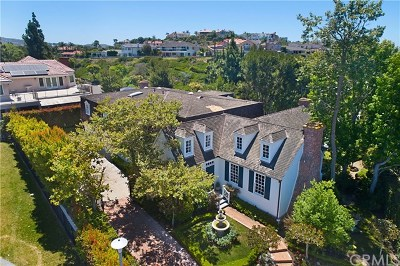 Newport Beach Single Family Home For Sale: 2 San Sebastian