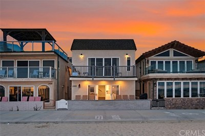 Newport Beach Multi Family Home For Sale: 3308 W Oceanfront