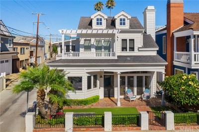 Balboa Island Single Family Home For Sale: 324 Diamond Avenue