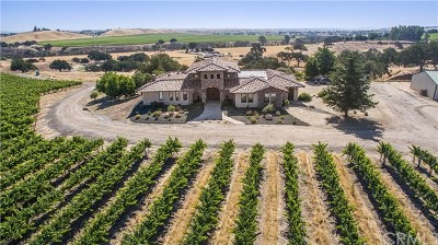 Paso Robles Single Family Home For Sale: 6060 Jardine Road