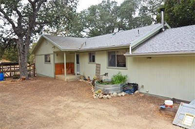 Santa Margarita Single Family Home For Sale: 3625 Parkhill Road