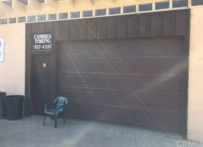 Cambria Commercial For Sale: 4337 Bridge Street #C