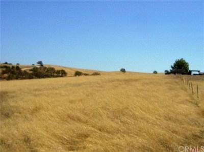 Santa Margarita, Templeton, Atascadero, Paso Robles Residential Lots & Land For Sale: Amaretto Ridge