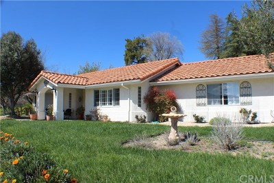 Paso Robles Single Family Home For Sale: 137 Fairview Lane
