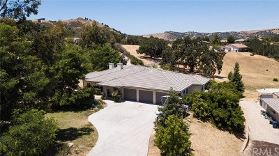 Paso Robles Single Family Home For Sale: 9890 Bluegill Drive