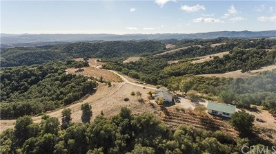 San Luis Obispo County, Monterey County, Santa Barbara County Residential Lots & Land For Sale: 3456 Lynx Ridge Road