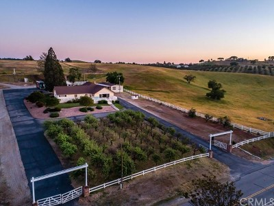 Paso Robles Single Family Home For Sale: 6425 Union Road