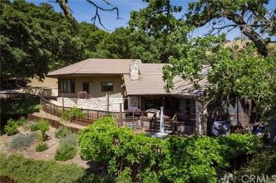 Atascadero Single Family Home For Sale: 11800 Old Morro Road
