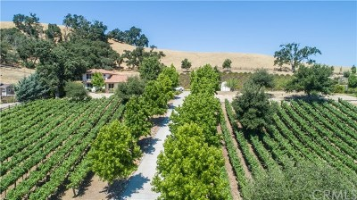 Paso Robles Single Family Home For Sale: 9859 Steelhead Road