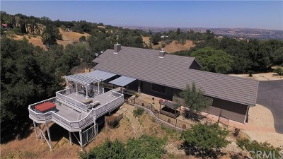 Santa Margarita, Templeton, Atascadero, Paso Robles Single Family Home For Sale: 10844 Vista Road