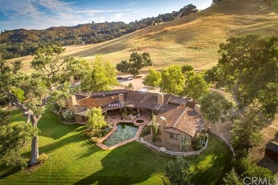 Paso Robles Single Family Home For Sale: 13630 Chimney Rock Road