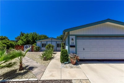 San Luis Obispo County Single Family Home For Sale: 11 Dove Ct