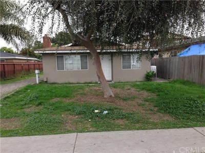 Huntington Beach Single Family Home Active Under Contract: 17192 Oak Lane