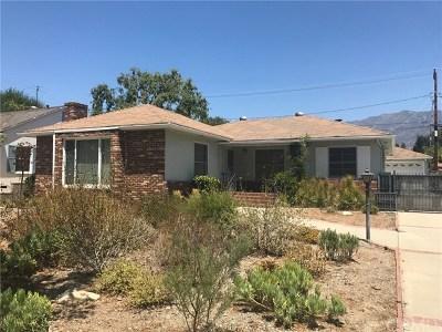 Pasadena Single Family Home For Sale: 2255 Monte Vista Street