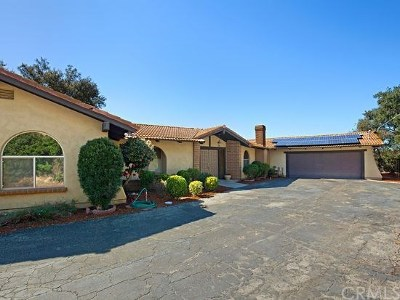 Fallbrook Single Family Home For Sale: 2474 Gird Road