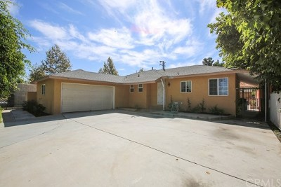 Santa Ana Single Family Home Active Under Contract: 1306 W Willits Street