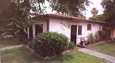 Santa Ana Multi Family Home For Sale: 2121 W Myrtle Street