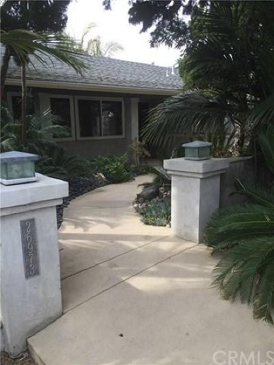 Dana Point Single Family Home For Sale: 26973 Del Gado Road
