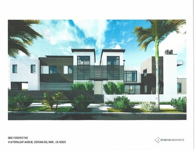 Corona del Mar Single Family Home For Sale: 2711 First Avenue