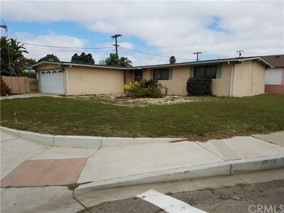 Santa Maria Single Family Home Active Under Contract: 1304 N McClelland Street