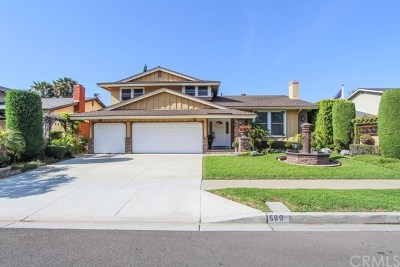 Costa Mesa Single Family Home Active Under Contract: 586 Pierpont Drive
