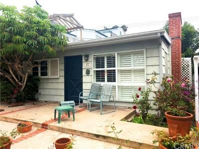 Corona Del Mar North Of Pch (Cnhw) Single Family Home For Sale: 616 Poinsettia