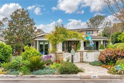 Laguna Beach Single Family Home For Sale: 470 Linden Street