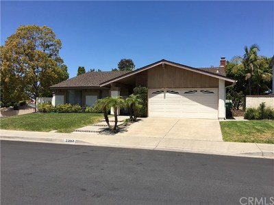 Mission Viejo CA Single Family Home For Sale: $650,000