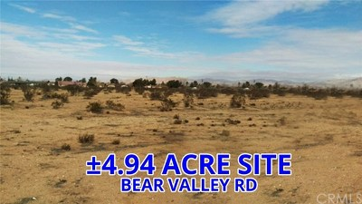 Apple Valley Residential Lots & Land For Sale: Bear Valley Road