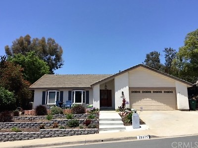 Mission Viejo Single Family Home For Sale: 25371 Remesa Drive