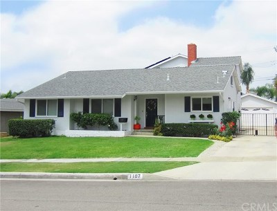 Fullerton Single Family Home For Sale: 1107 N Cornell Avenue