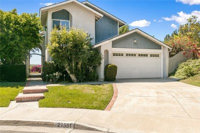 Mission Viejo Single Family Home For Sale: 21551 Bogarra
