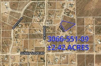 Phelan Residential Lots & Land For Sale: Tim Court